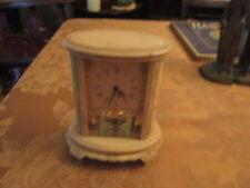 VINTAGE  (2) Jewel Aug Schatz & Sohne Germany DESK Clock GREAT WORKING CONDITION