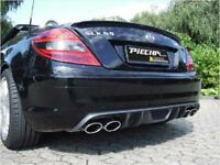 Piecha RS Heckdiffusor mit 4 Finnen und Airbox für AMG Heck Mercedes SLK R171