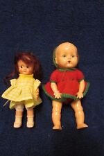 Two Vintage Reliable Hard Plastic Dolls