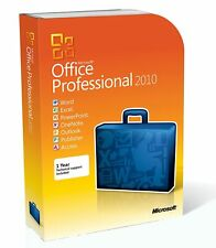 Microsoft Office 2010 Professional Full Retail sealed DVD Box