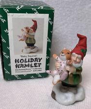 """Fitz & Floyd Holiday Hamlet Elf """"Baby Squirrel"""" Enchanted Forest 19/726 w/ Box"""