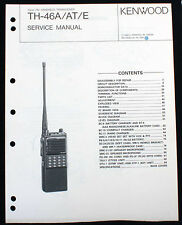 ORIGINAL KENWOOD TH-46A PAPER SERVICE MANUAL NO STINKING PDF/CD EXC