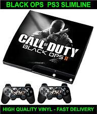 Playstation 3 Slimline Console Sticker Skin COD BO2 Style & 2 X Pad Skins