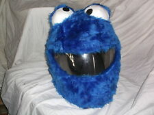 MOTORBIKE FUNNY HEEDS CRAZY CRASH HELMET COVERS MOTORCYCLE COVER COOKIE MONSTER