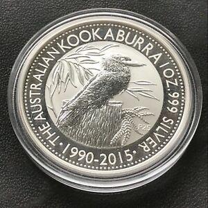 2015 Australian Kookaburra 1 Ounce .999 Silver Coin Original Perth Mint Capsule