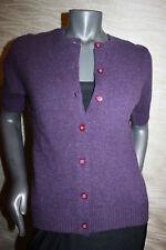 Luxus reine Schurwolle Pullover Strickjacke BROOKSHIRE Gr.S M  lila
