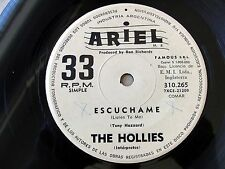"THE HOLLIES 7"" PROMO Listen To Me SOUTHAMERICA Ed. 1969 Spanish Titles 33-rpm"