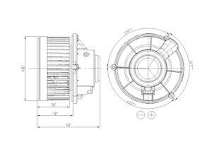 HVAC Blower Motor Front TYC 700211