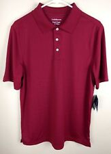 Croft & Barrow Mens Shirt Size Small Polo Red Short Sleeve Easy Care