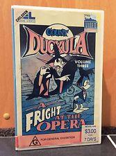 COUNT DUCKULA Vol 3 - A FRIGHT AT THE OPERA - WALT DISNEY - VHS