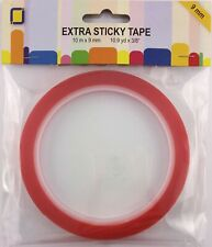 (0,25 €/ Meter) 1 Rolle Sticky Tape doppelseitiges Klebeband 9 mm breit