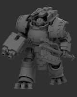 """Gothic Sci-Fi 28/30mm  """"Forge Adept"""" Dreadnought - Compatible with Warhammer 40k"""