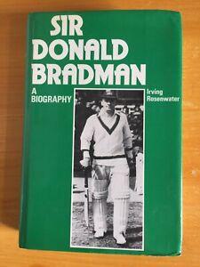 1979 Signed Don Bradman & I Rosenwater Book Sir Donald Bradman vgc