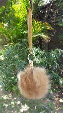 Lovely Genuine Fur Ball PomPom Keychain Handbag Charm Key Ring