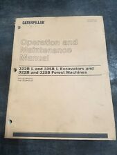 CAT 322B L/325B L Excavators 322B/325B Forest Machine Operation Manual SEBU6939