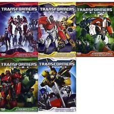 Dvd TRANSFORMERS PRIME - Stagioni 1 - Volume 1-2-3-4-5 (5 Dischi) .....NUOVO