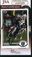 Tim Brown 1991 Upper Deck Autograph Jsa Coa Authentic Hand Signed