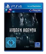 hidden agenda (playlink) PS4 PlayStation 4 NUEVO + Embalaje orig.