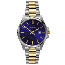 2440 Sekonda Ladies Two-Tone Bracelet Watch 31mm wide Blue Dial & Date
