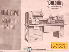 Leblond Dual Drive Engine Lathe Instructions Manual Year 1951
