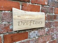 Oak Wooden House Sign. Engraved Lettering. Hand Finished. Made in Wales.