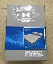 Under Armour Athlete Recovery Bedding Full Sheet Set Elememtal Gray $275.00 Msrp