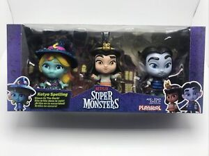 NETFLIX Super Monsters Trio Cleo Drac Katya GLOWS IN THE DARK Playskool