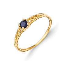 14K Yellow Gold 3mm Sapphire Birthstone Baby Ring Size 3 Madi K Child's Jewelry