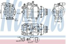 Air Con Compressor 89036 Nissens AC Conditioning 3D0820805B 7H0820805B Quality