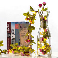 2M 20 LED Flower String Fairy Lights Ivy Vine Wedding&Hanging Garland Home Decor