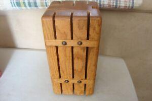 Stylish Handmade 8 Slot Wooden Tower Knife Block