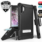For Samsung Galaxy Note 10/10 Plus/9/S10/S9 Shockproof Belt Clip Holster Case