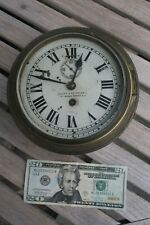WWII Vintage Lilley & Reynolds Brass Maritime British Admiralty Ships Clock