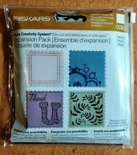 Fiskars Fuse Scalloped Square Topper Expansion Pack 0081 - Tags - - Ex Condition