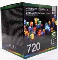 Lichterkette 720 LED multicolor Weihnachtsbeleuchtung Außen Lichtschlauch EF