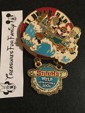 Disney LE Pin Animal Kingdom Stitch's Wild Adventures 2004 Stitch Kali Rapids