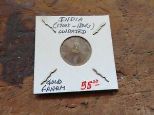india gold fanam (1700 to 1800) undated