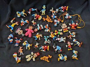 Lot of 39 Toys Nodder Heads Walt Disney Mickey Donald Duck Pluto Goofy HONG KONG