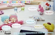 Sanrio Hugcot Hello Kitty Pompompurin Complete 6pcs - Bandai Capsule Toy   ==