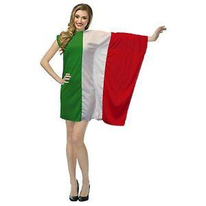 Ladies Italy Flag Dress Fancy Dress St Francis Day Italian Costume