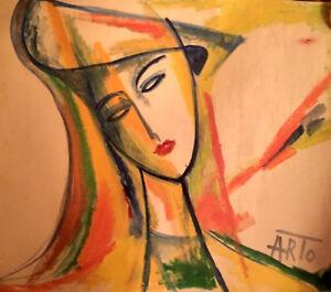 WOMAN Graphic Painting- RUSSIAN ARMENIAN Artist ARTO YARALYAN Yaralian Արտո Арто
