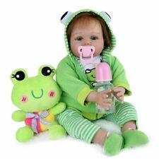 55cm reborn Baby Puppe Lebensecht Handgefertigt Weich Silikon-Vinyl Mädchen Doll