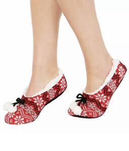 Charter Club Womens Fair Isle Slipper Socks L/xl