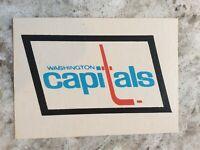 Washington Capitals Records 1977-78 O-PEE-CHEE OPC Hockey #339 (EXMT) Team Logo