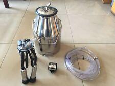 New 304 stainless steel Portable Cow Milker Milking Bucket Tank Barrel 25L