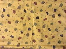 Purses on Yellow RIverwoods Collection Shabby Chicks Fabric by the 1/2  yard