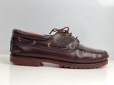 Timberland Three Eye Classic Lug Men's Brown Leather Boat Shoe UK Size 12.5