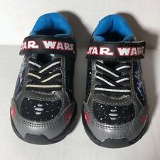 Star Wars X-Wing Vs Death Star Baby Toddler Black Light Up Shoes