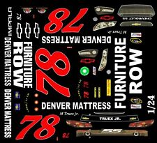 #78 Martin Truex jr. Furniture Row 2015 1/25th - 1/24th Scale Waterslide Decals