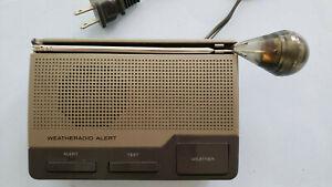 Vintage Radio Shack Weather Radio Alert Model 12-240 Works Radioshack